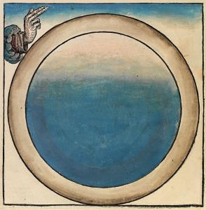 Før alt andet blev skabt var vandet der. Dette billede af den første dag stammer fra Nuremberg Chronicle og lavet i 1493